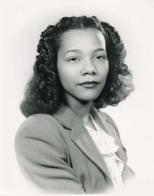 Coretta Scott King in college.