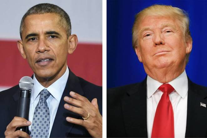 President Obama and Trump